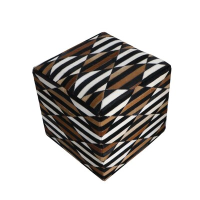 Golub Striped Hide Pouf