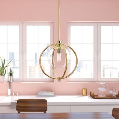 Bynoe 1-Light Mini Pendant Finish: Satin Brass