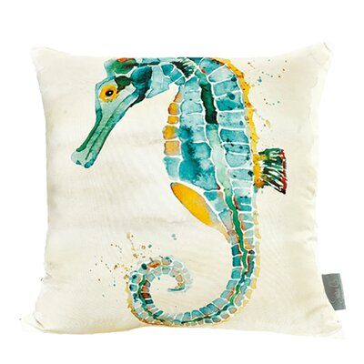 Clawson Seahorse Cotton Throw Pillow