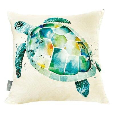 Pleasanton Sea Turtle Cotton Throw Pillow