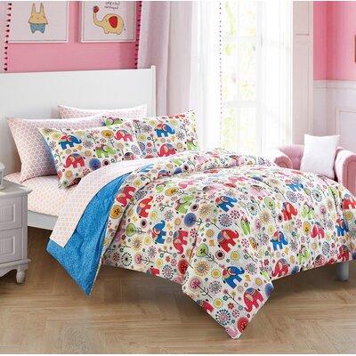 Linn Elephant Reversible Bed-in-a-Bag Set 8625EC6BC7D44389B9B248C45B2426BF