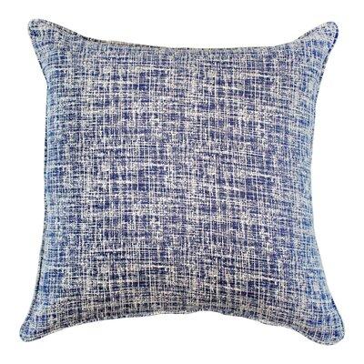 Eccles Textured Design Cotton Throw Pillow Color: Navy