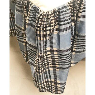 Genous Plaid Bed Skirt Size: Twin