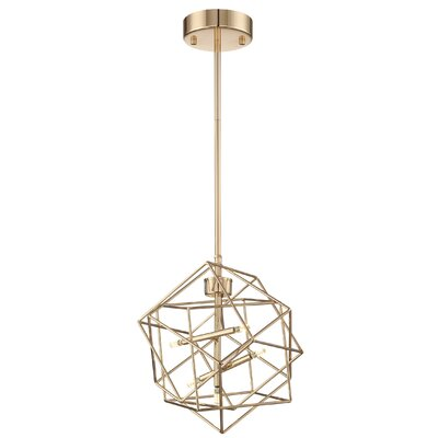 Goley 5-Light Geometric Pendant Finish: French Gold