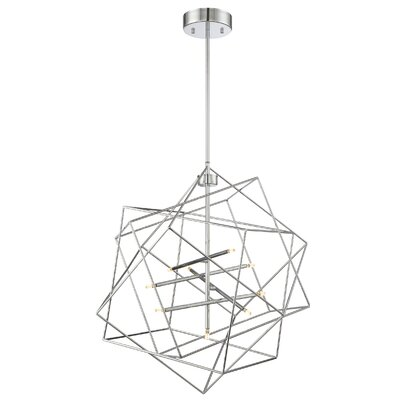Goley 9-Light Geometric Pendant Finish: Chrome