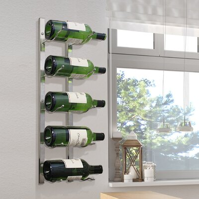 Magnum 5 Bottle Wall Mounted Wine Rack