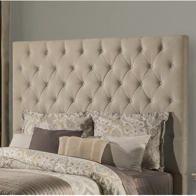 Keesee Panel Headboard Size: King, Color: Beige