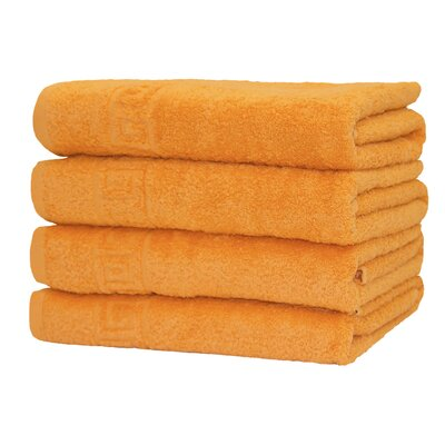 100% Cotton Bath Towel Color: Orange