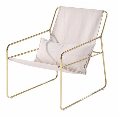 Shmulevich Relaxing Sling Armchair Finish: Gold
