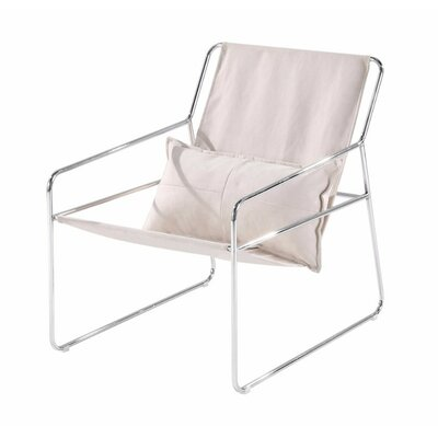 Shmulevich Relaxing Sling Armchair Finish: Silver