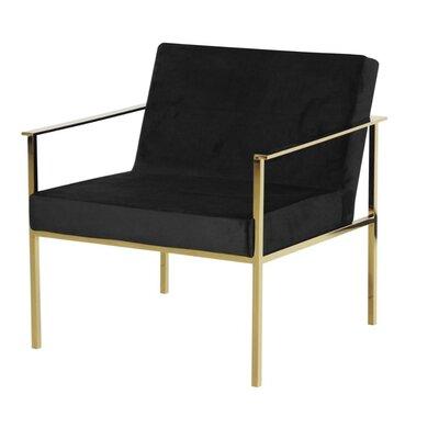 Fritts Comfortable Velveteen Armchair Finish: Gold