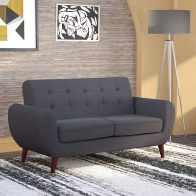 Diara Living Room Loveseat Upholstery: Dark Gray