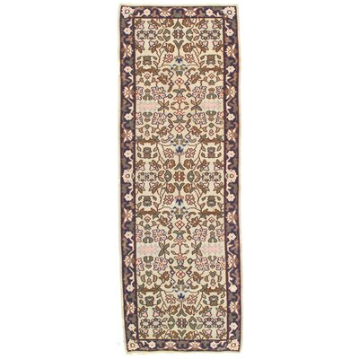 Turkish Bashir Hand Knotted Wool Brown/Ivory Area Rug
