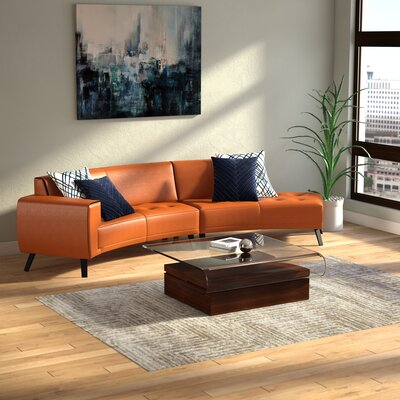 Shandel Italian Leather Modular Sectional