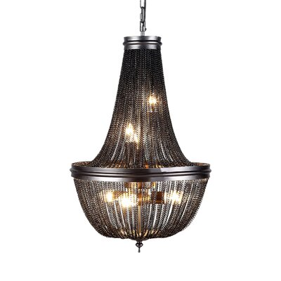 Lininger 6-Light Empire Chandelier Finish: Gray