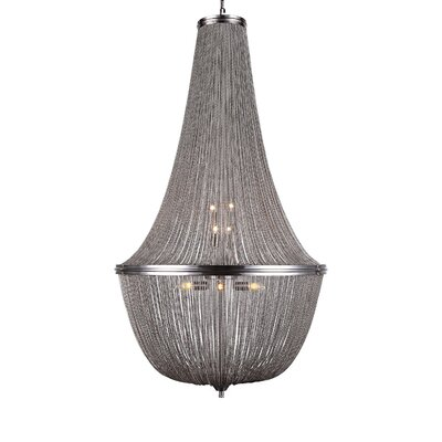 Lininger 10-Light Empire Chandelier Finish: Pewter