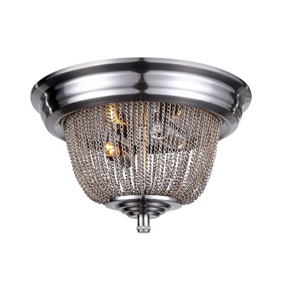 Lininger 2-Light Flush Mount Finish: Pewter