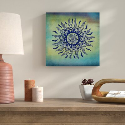'Yoga Blues I' Graphic Art Print on Wrapped Canvas 1F118ECC413E482BA4E12ADFD7B99C71