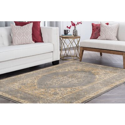 Ramm Transitional Border Ivory Area Rug Rug Size: Runner 2 x 8