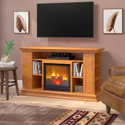 Maidstone 50 TV Stand with Fireplace Finish: Light Oak