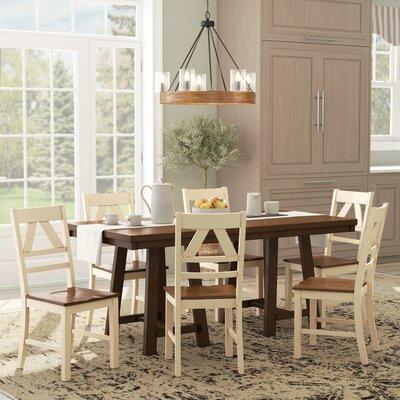 Castleford 7 Piece Dining Set Color: Antique White / Oak