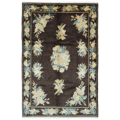 One-of-a-Kind Finian Oriental Hand-Knotted Wool Brown/White Area Rug