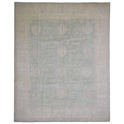 One-of-a-Kind Baron Oriental Hand-Knotted Wool Green Area Rug