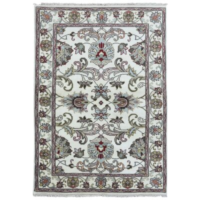 One-of-a-Kind Balic Oriental Hand-Knotted Wool Beige Area Rug