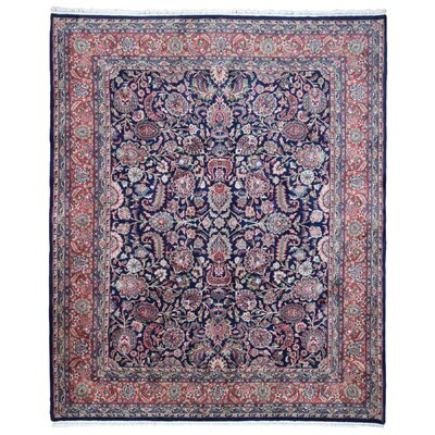 One-of-a-Kind Moline Oriental Hand-Knotted Wool Black/Red Area Rug