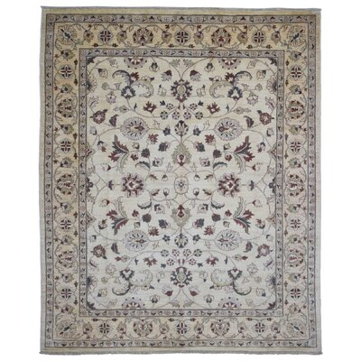 One-of-a-Kind Baron Oriental Hand-Knotted Wool Beige Area Rug