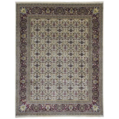 One-of-a-Kind Exmore Oriental Hand-Knotted Wool Beige Area Rug