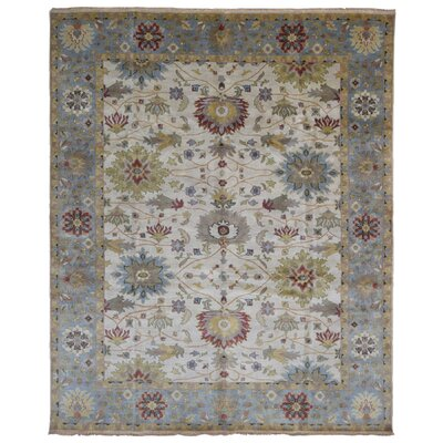 One-of-a-Kind Tanesha Hand-Knotted Wool Beige Area Rug