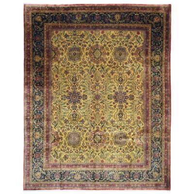 One-of-a-Kind Exmore Oriental Hand-Knotted Wool Gold Area Rug