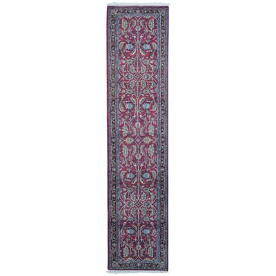 One-of-a-Kind Benelva Oriental Hand-Knotted Wool Red/Blue Area Rug