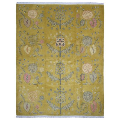 One-of-a-Kind Boulder Creek Hand-Knotted Wool Yellow Area Rug