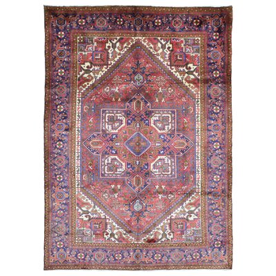 One-of-a-Kind Marjorie Semi Antique Oriental Hand-Knotted Wool Red/Purple Area Rug