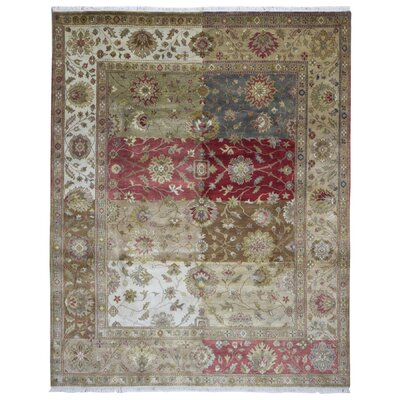 One-of-a-Kind Mollett Oriental Hand-Knotted Wool Brown/Red Area Rug