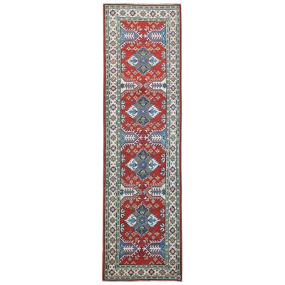 One-of-a-Kind Abbotsford Hand-Knotted Wool Red/Blue Area Rug