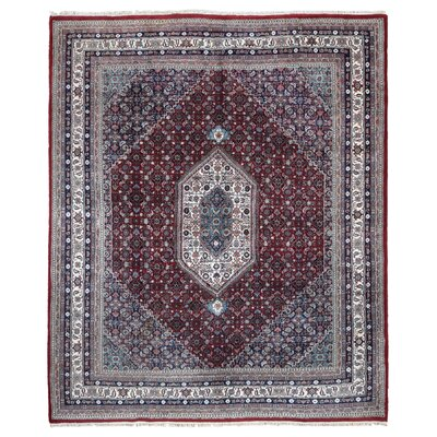 One-of-a-Kind Faustine Oriental Hand-Knotted Wool Blue/Red Area Rug