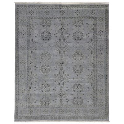 One-of-a-Kind Mitchel Turkish Knot Oriental Hand-Knotted Wool Gray Area Rug