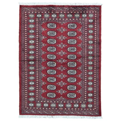 One-of-a-Kind Moloney Oriental Hand-Knotted Wool Beige/Red Area Rug