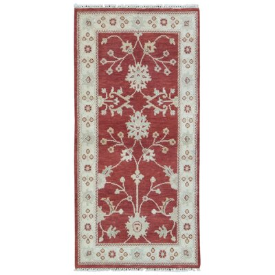 One-of-a-Kind Baron Hand-Knotted Wool Red/Yellow Area Rug