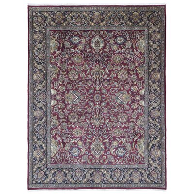 One-of-a-Kind Exmore Oriental Hand-Knotted Wool Red Area Rug