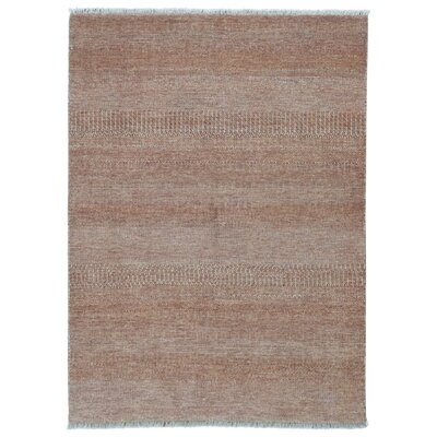 One-of-a-Kind Westcott Modern Oriental Hand-Knotted Wool Brown Area Rug