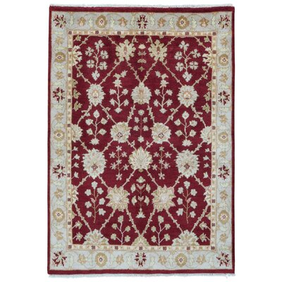 One-of-a-Kind Cordelia Oriental Hand-Knotted Wool Red/Beige Area Rug