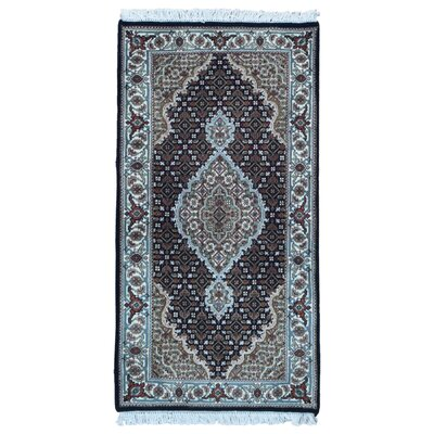 One-of-a-Kind Bakerstown Oriental Hand-Knotted Wool Olive/Black Area Rug
