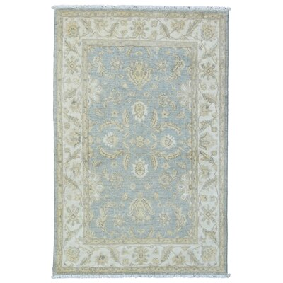 One-of-a-Kind Baron Oriental Hand-Knotted Wool Blue/Beige Area Rug