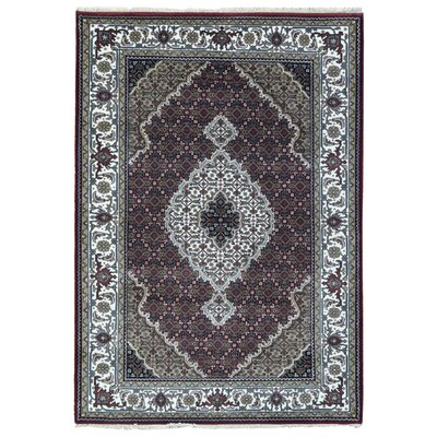 One-of-a-Kind Bakerstown Oriental Hand-Knotted Wool Beige/Red Area Rug