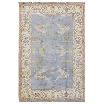 One-of-a-Kind Mitchel Oriental Hand-Knotted Wool Beige/Blue Area Rug