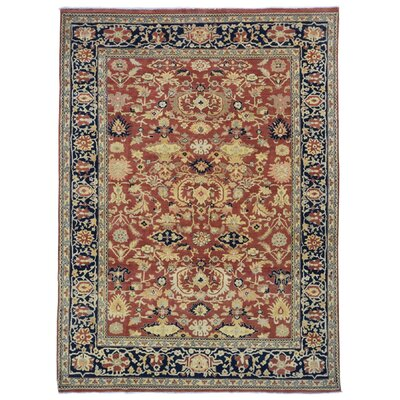 One-of-a-Kind Baron Oriental Hand-Knotted Wool Red/Black Area Rug